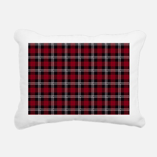 Vintage, Red Plaid, Rectangular Canvas Pillow
