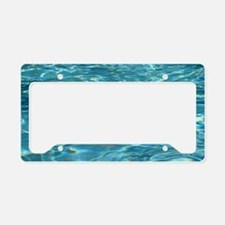 Crystal Clear Water License Plate Holder
