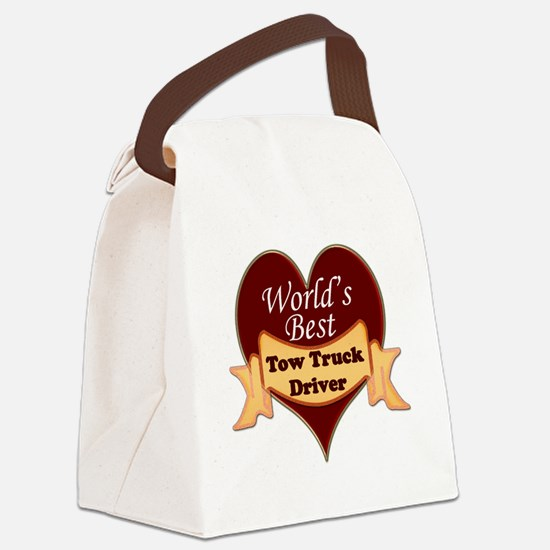 Worlds Best Tow Truck Driver Canvas Lunch Bag