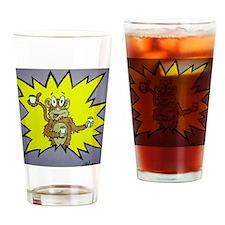 coffee critter monkey Drinking Glass