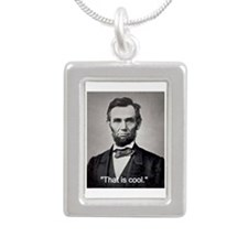 "Abe Lincoln ""That is coo Silver Portrait Necklace"