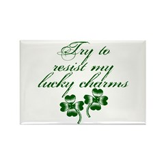 Lucky Charms Saint Patricks Day Rectangle Magnet