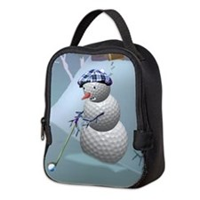 Golf Ball Snowman Neoprene Lunch Bag