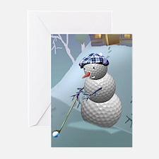 Golf Ball Snowman Greeting Cards (Pk of 10)