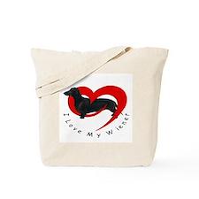 I Love My Weiner Tote Bag