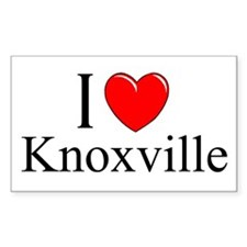 """I Love Knoxville"" Rectangle Decal"