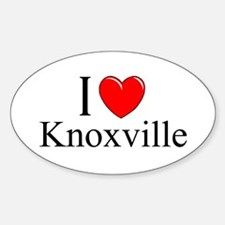 """""""I Love Knoxville"""" Oval Decal"""
