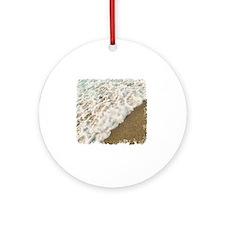foamy shore Round Ornament