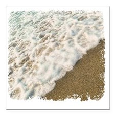 "foamy shore Square Car Magnet 3"" x 3"""