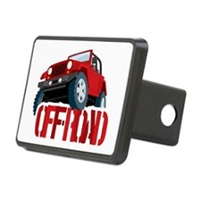 Red 4X4 off-roader Hitch Cover