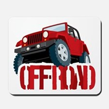 Red 4X4 off-roader Mousepad