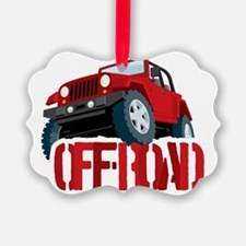 Red 4X4 off-roader Ornament