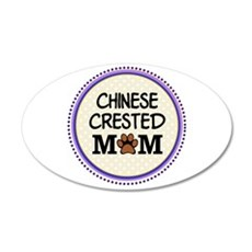 Chinese Crested Dog Mom Wall Sticker