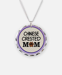 Chinese Crested Dog Mom Necklace