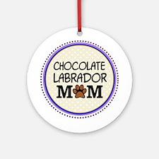 Chocolate Labrador Dog Mom Ornament (Round)