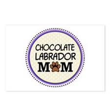 Chocolate Labrador Dog Mom Postcards (Package of 8