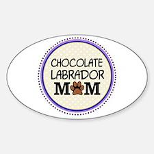 Chocolate Labrador Dog Mom Decal