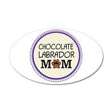 Chocolate Labrador Dog Mom Wall Sticker