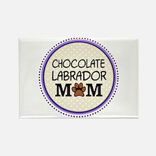 Chocolate Labrador Dog Mom Magnets