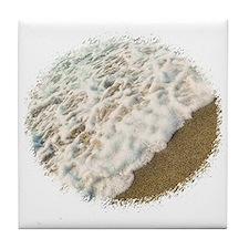 foamy shore Tile Coaster