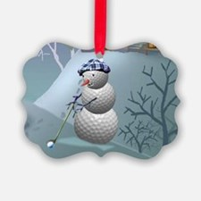 Golf Ball Snowman Ornament