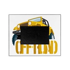 Yellow 4X4 off-roader Picture Frame