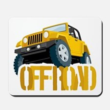 Yellow 4X4 off-roader Mousepad