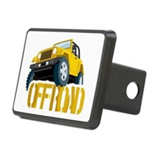 Yellow 4X4 off-roader Hitch Cover