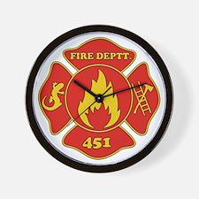 Fahrenheit 451 - Fire Deptt. red Wall Clock