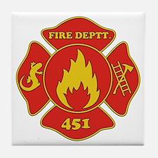 Fahrenheit 451 - Fire Deptt. red Tile Coaster