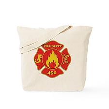 Fahrenheit 451 - Fire Deptt. red Tote Bag