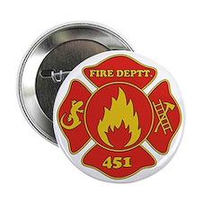 """Fahrenheit 451 - Fire Deptt. red 2.25"""" Button"""