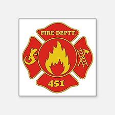 "Fahrenheit 451 - Fire Deptt Square Sticker 3"" x 3"""