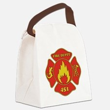 Fahrenheit 451 - Fire Deptt. red Canvas Lunch Bag