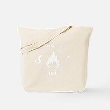 Fahrenheit 451 Fire Deptt. white Tote Bag