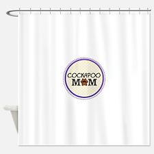 Cockapoo Dog Mom Shower Curtain