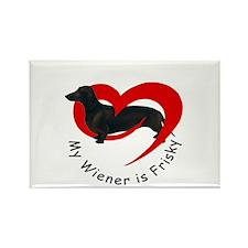 My Wiener Is Frisky Rectangle Magnet