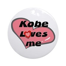 kobe loves me  Ornament (Round)