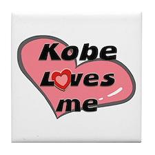 kobe loves me  Tile Coaster