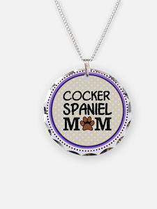 Cocker Spaniel Dog Mom Necklace