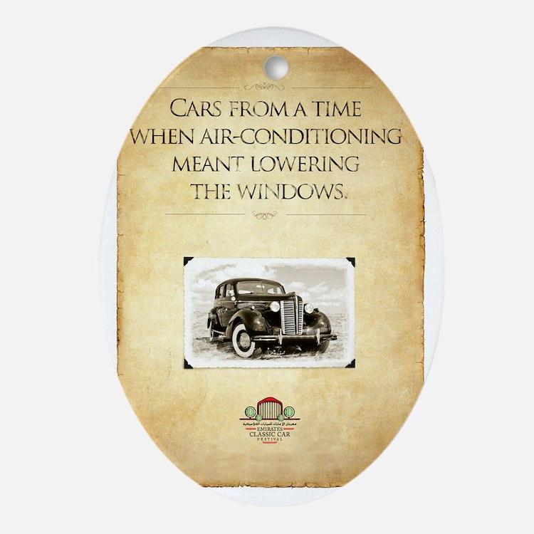 Classic Car Oval Ornament