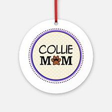 Collie Dog Mom Ornament (Round)