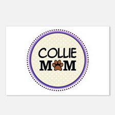 Collie Dog Mom Postcards (Package of 8)