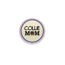 Collie Dog Mom Mini Button