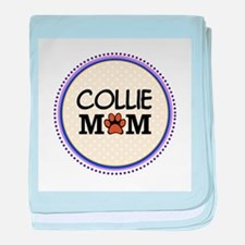 Collie Dog Mom baby blanket