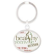 Healthy Runner Logo Oval Keychain