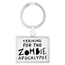 Training for the Zombie Apocaly Landscape Keychain
