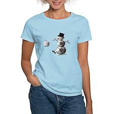 Soccer Christmas Snowman T-Shirt