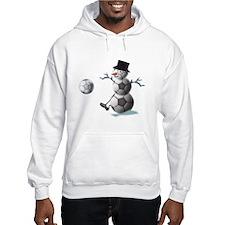 Soccer Christmas Snowman Hoodie