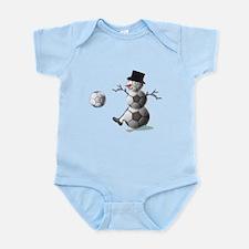 Soccer Christmas Snowman Infant Bodysuit